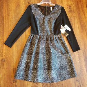 Kensie Small Elegant Black and White Dress BNWT